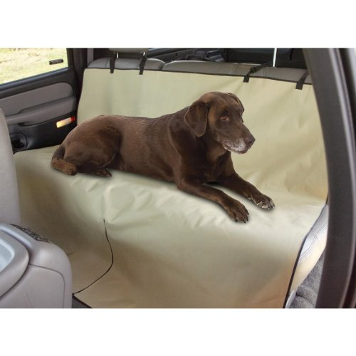 HOMEE Waterproof Dog Back Seat Covers for Car with Seat Anchors and Headrest Straps (Beige) (Paw Car Mats compare prices)