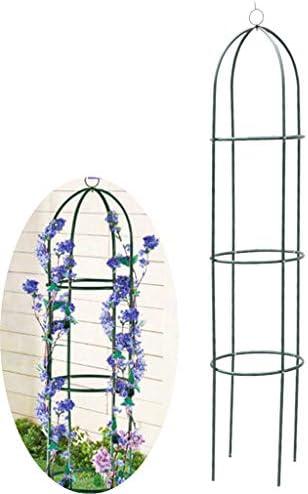 植物のつるバラ、トマトなどを登るためのオベリスクガーデンフラワースタンド、装飾的な垂直園芸、74.8x15.7インチ