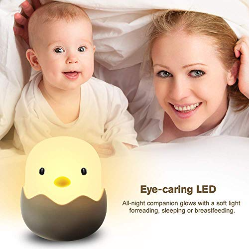 (Updated Version)Tecboss Night Light for Kids, Baby Night Light Touch Control Rechargeable Nursery Lamp Cute Chick Nightlights for Breastfeeding Kids Children Room by Tecboss (Image #3)