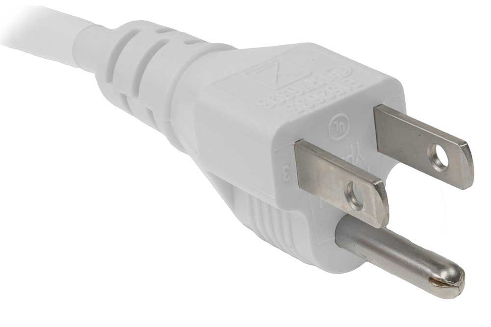 White 8FT OMNIHIL AC Power Cord for Epson VS240 Projector