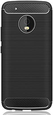IVSO Funda Motorola Moto G5 Slim Soft Silicon Shockproof Caso Cubierta de Textura de Fibra de Carbono Cubierta de protección de Silicona Carcasa Funda para Moto G5 Smartphone (Negro): Amazon.es: Electrónica