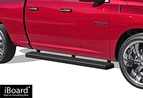 APS iBoard Running Boards (Nerf Bars | Side Steps | Step Bars) For 2009-2018 Dodge Ram 1500 Quad Cab Pickup 4-Door | (Black Powder Coated 5 ()