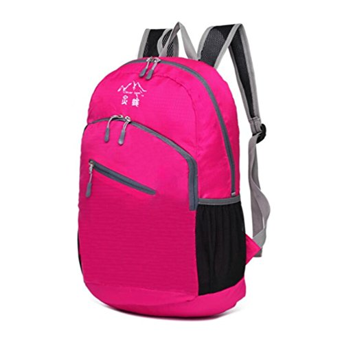 Wmshpeds Se puede acomodar bolso plegable impermeable alpinismo al aire libre mochila de viaje C
