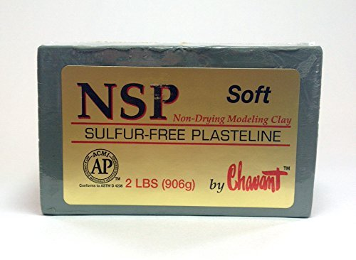 Chavant NSP SOFT - 2 Lbs. Professional Oil Based Sulfur Free Sculpting Clay - GREEN