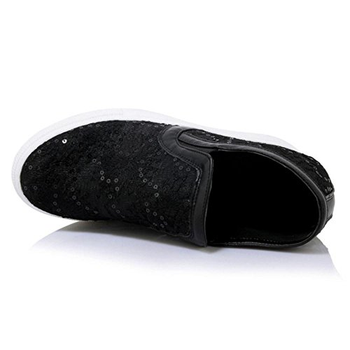 Shoes Women Coolcept Sneaker Wedge Black On Slip Heels wC4q6xI4v