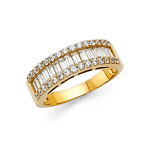 Yellow Gold Baguette Ring - 6