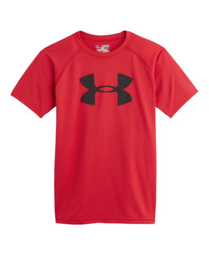 Under Armour Big Boys' UA Big Logo T-Shirt Youth Medium Red
