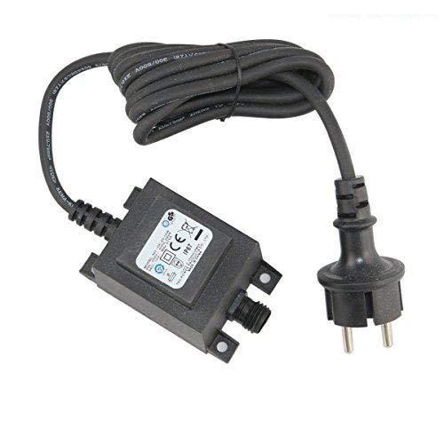 SSC alimentatore/trasformatore/a corrente alternata AC/AC Impermeabile IP67 per esterni/ Ingresso 230 V uscita 12 V Collegamento IP44, cavo 1,9 m per faretti da giardino TDC 42002