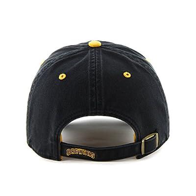 MLB Milwaukee Brewers Ice Adjustable Hat, One Size, Black