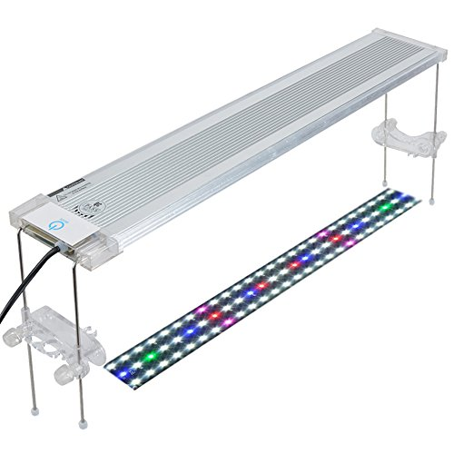 Pawfly LED Aquarium Light Adjustable Brightness Fish Tank Plant Lighting with Extendable Brackets, 18 to 24 Inch