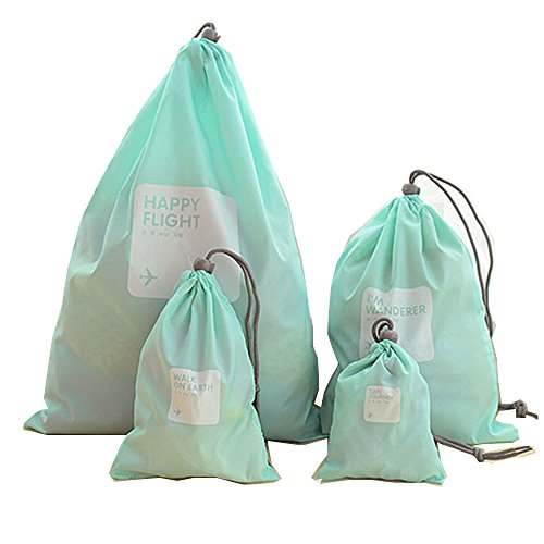 Price comparison product image 4 pieces Waterproof Travel Drawstring Bag Shoe Laundry Underwear Makeup Storage Pouch