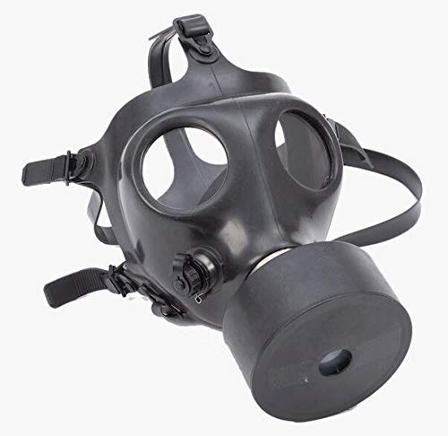 Israeli Rubber Respirator Mask NBC Protection For Industrial Use, Chemical Handling, Painting, Welding, Prepping with Drinking Straw/Tube -