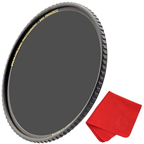 Breakthrough Photography 49mm X4 3-Stop ND Filter Camera Lenses, Neutral Density Professional Photography Filter Lens Cloth, MRC16, Schott B270 Glass, Nanotec, Ultra-Slim, Weather-Sealed