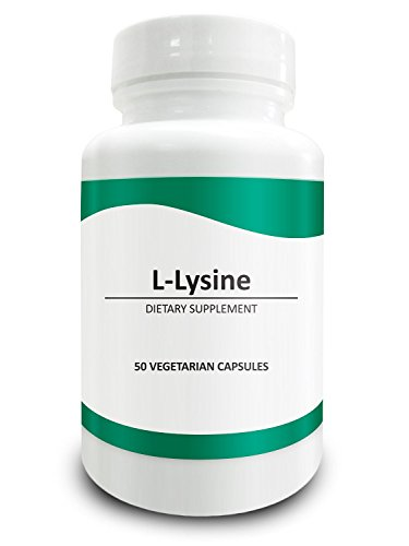 L Lysine 750mg with 5mg BioPerine (Natural Bioavailability Enhancer for Better Absorption) 50 Vegetarian Capsules