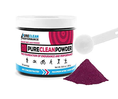 Beet Juice Benefits (PureClean Powder - 100% USA Grown Organic Beet Juice Powder (Jar 300G) Nitric Oxide Booster -No Fillers, Sweeteners, Additives. Non-GMO Nitrate Beet Root Powder, Super Beets Energy Powder Supplement)