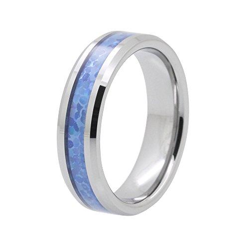 Polished Beveled Tungsten Wedding DBLO511H