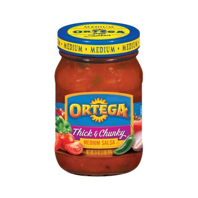 UPC 039000015622, Ortega Thick'n Chunky Medium Salsa 16 oz (Pack of 2)