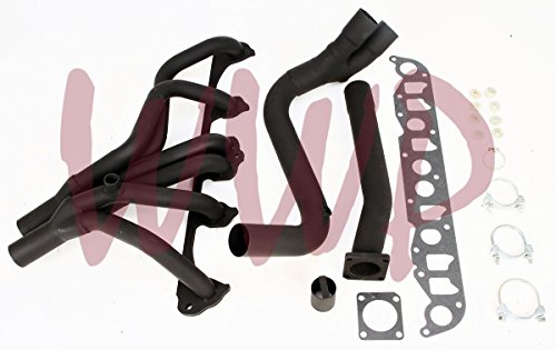 (Black Coated Performance Exhaust Header Manifold System For 87-93 Jeep Cherokee Wagoneer 4.0L 6-Cylinder)