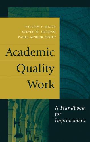Academic Quality Work: A Handbook for Improvement