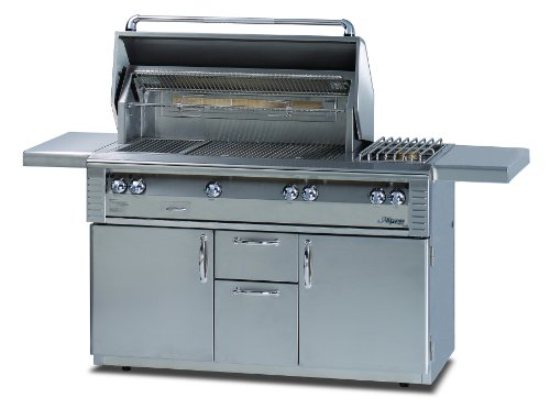 Cart Alfresco - Alfresco ALX2-56C 56-Inch Standard Grill with Sideburner on Cart
