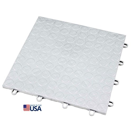 IncStores 12in x12in Grid-Loc Garage Flooring Tiles (12 Tile Pack) Interlocking Modular Floor System With Built-In Drainage and Snap Together Installation (Plastic Tile Flooring)