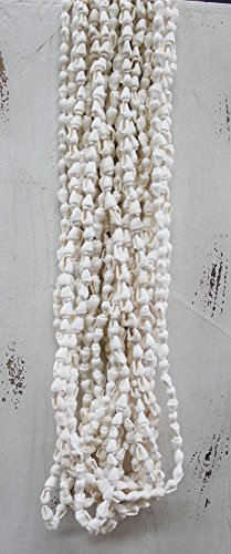 Long White Nassa Sea Shell Leis