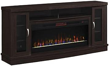 Classicflame Hutchinson Infrared Electric Fireplace Entertainment Center Oak Espresso Furniture Decor