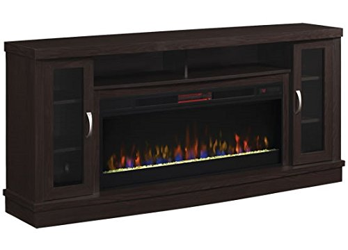 Classic Flame Hutchinson Infrared Electric Fireplace Entertainment Center, Oak Espresso (Fireplace Flame Classic Electric Infrared)