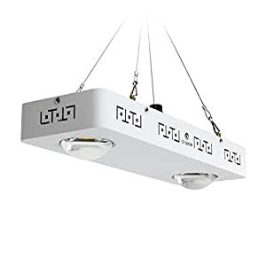 COB LED Grow Light Full Spectrum - CF Grow - Dimmable CREE CXB3590 200W 26000LM - replace HPS 400W Growing Lamp - Indoor Plant Growth Panel Lighting - White