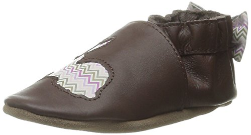 Robeez Hopping Haley Crib Shoe (Infant), Brown/Pink, 12-18 Months M US Infant