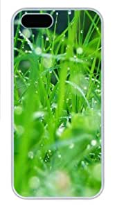 Grass 2 Polycarbonate Hard Case Cover for iPhone 5/5S ¡§C White