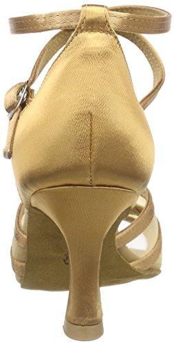 Diamant Diamant Damen Latein Tanzschuhe 035-087-087 - Zapatos de danza moderna/jazz Mujer Marrón (Bronze)