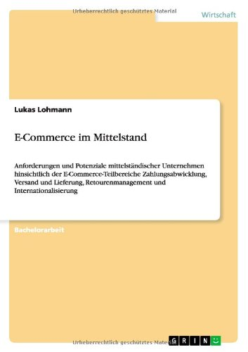 Read Online E-Commerce im Mittelstand (German Edition) pdf