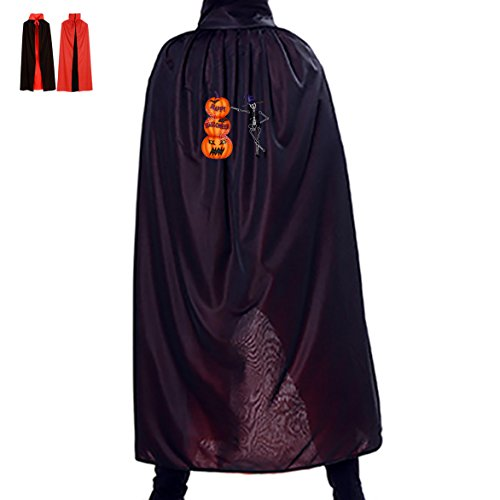Halloween Pickup Skeleton Children Adult Costume Wizard Witch Cloak Robe Cape