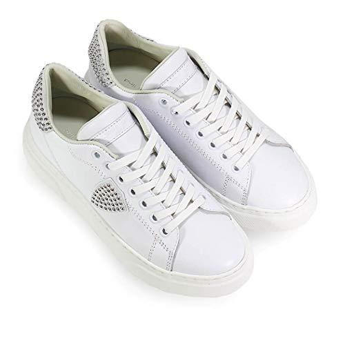 Mujer 2019 Ss Model Tachuelas Blanca Con Zapatos De Philippe Temple Zapatilla T8xzwn15vq