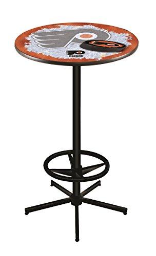 (Holland Bar Stool Co. NHL Philadelphia Flyers Orange Background Officially Licensed Pub Table, 36