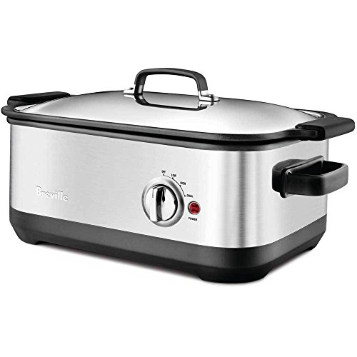 Breville BSC560XL Stainless-Steel 7-Quart Slow Cooker with EasySear Insert by Breville