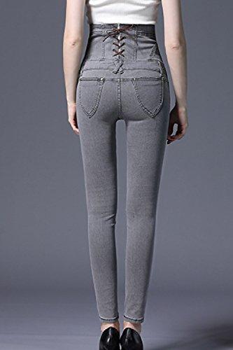 Jeans Des Zonsaoja Haute Forme Taille Grey CLes Slim Et Taille Jeans De Femmes Femmesssique SSHTwxqU