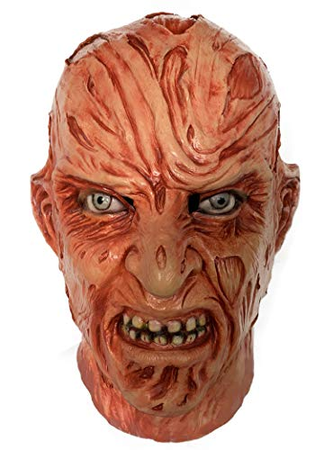 Freddy Krueger Mask Full Overhead Burn Face Costume Accessory -