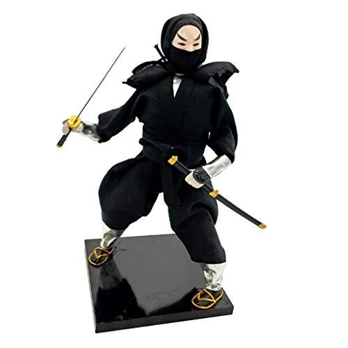 Geisha Doll Costume (Prettyia 12inch Vintage Japanese Samurai Ninja Kimono Doll Oriental Dolls Model)