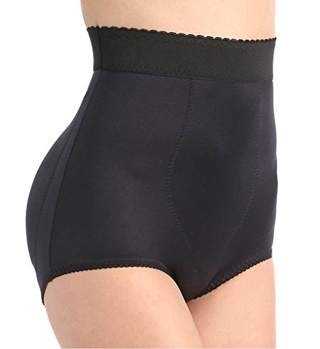 Satin Shapers Panty (Rago High Waist Padded Shaper Panty (915) L/Black)