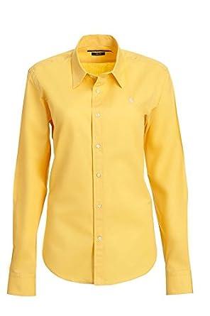 watch 2b205 30ff6 RALPH LAUREN Damen Bluse Hemd Shirt, Gelb mit Rosa Reiter ...