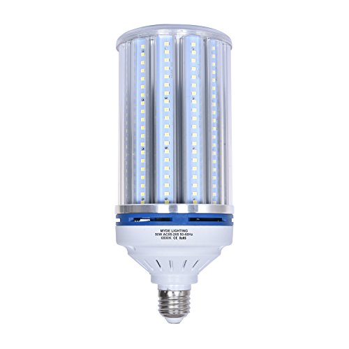 50W LED Corn Bulb 400 Watt Equivalent, E26 Medium Base 6500Lm 6500K Daylight, Replacement Energy Efficient Lighting Options for High Pressure Sodium and/or Metal Halide Applications ()