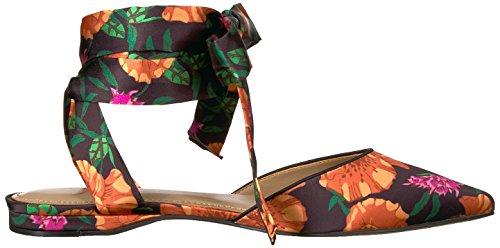 Priscilla Print de Mujer The Floral Fix Black cordón Zapatilla Puntiaguda Satin de Poppy Ballet 71H5xAaH