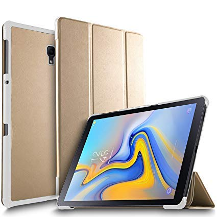 Smartlike Leather Flip Cover For Samsung Galaxy Tab E 9.6 Inch  SM T560 T561 Gold
