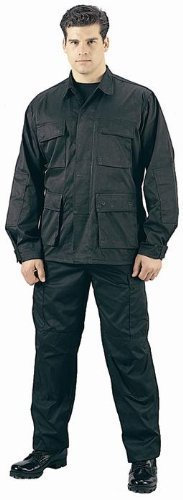 Black Fatigue (Military BDU Pants, Army Cargo Fatigues (Black, Size 2X-Large))