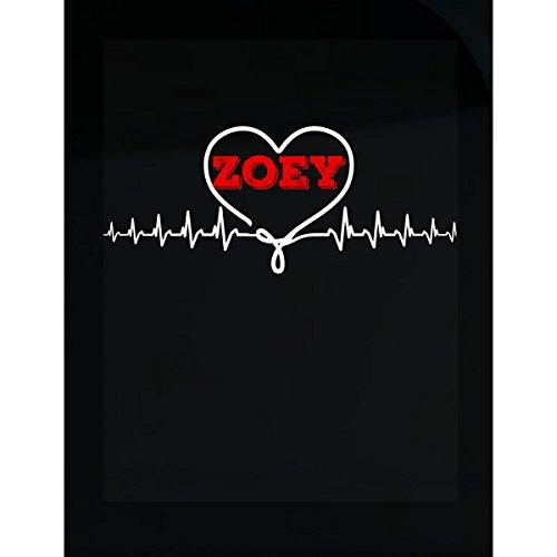 Prints Express I Love Zoey Heartbeat Unique Sticker