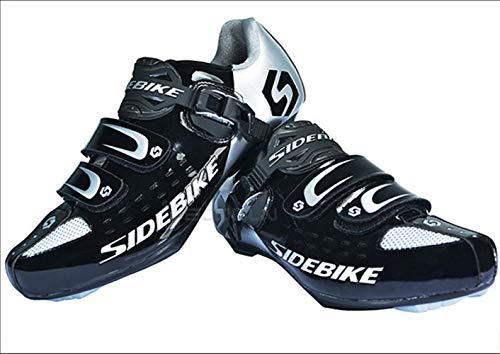 Fibre Adultes De Carbone Noir Bicyclette Route Chaussures Antidérapant Etanche Vélo Sidebike Pwq1Fn