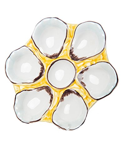 (Abigails Oyster Plate, 9.5-Inch by 9.5-Inch by 1-Inch)