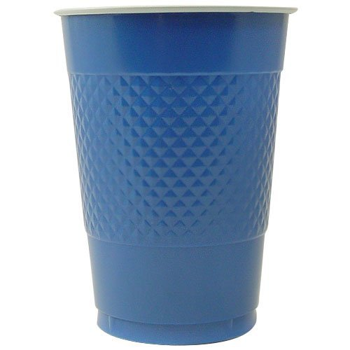 Hanna K. Signature Collection 50 Count Plastic Cup, 18-Ounce, Blue